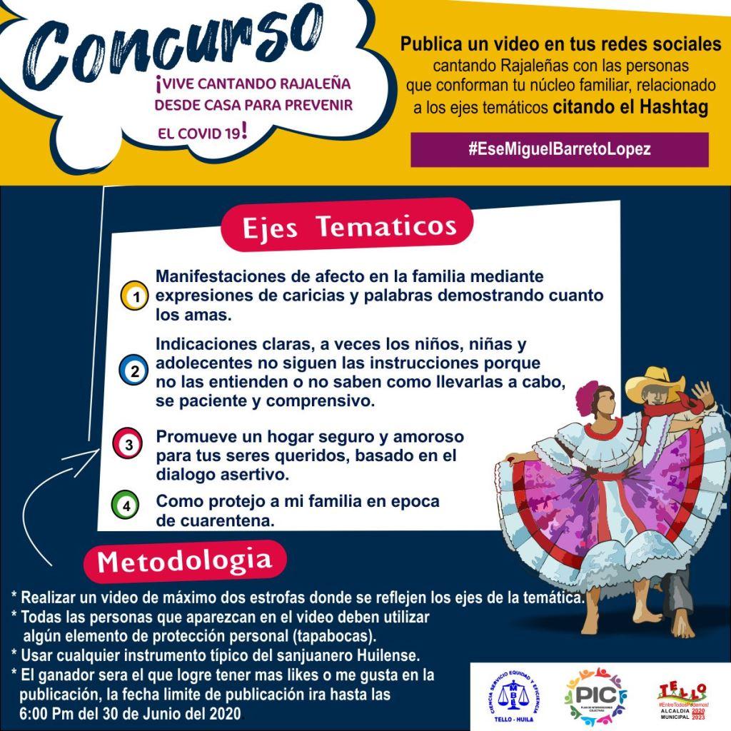Concurso Vive Cantando Rajalena Para Prevenir El Covid 19